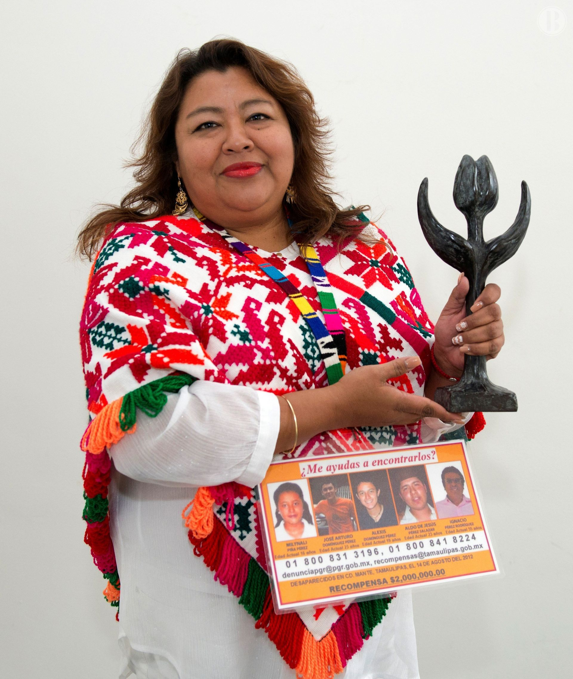 La mexicana Graciela Pérez recibe Tulipán por Derechos Humanos en Holanda