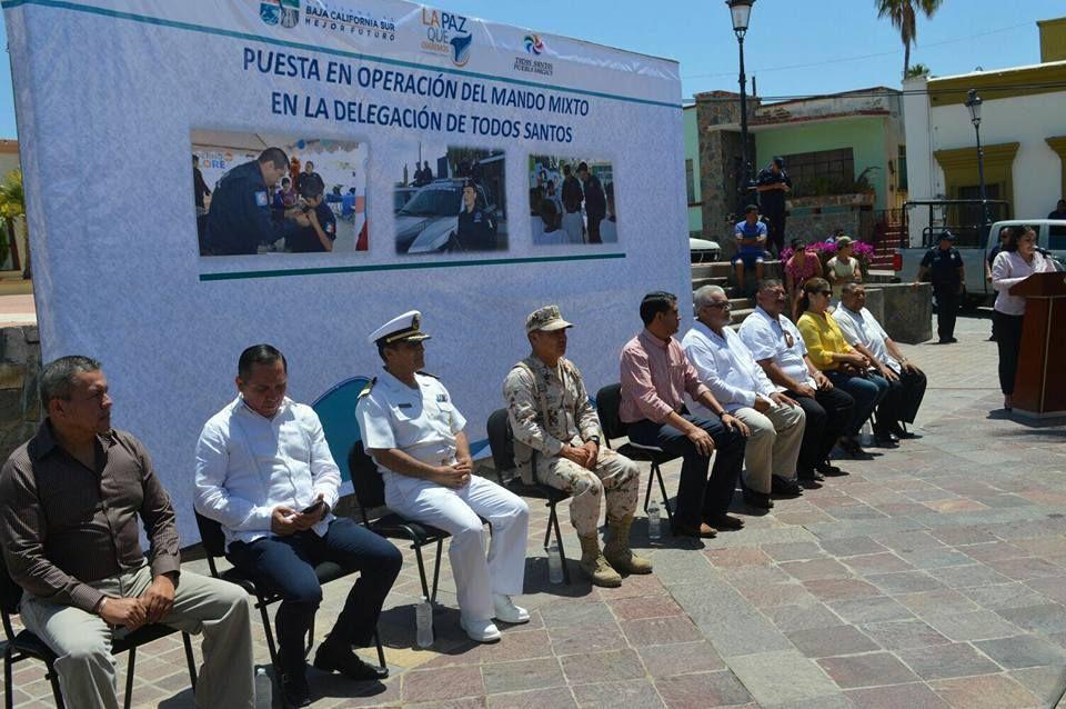 Inició operaciones el mando mixto en Todos Santos Baja California Sur