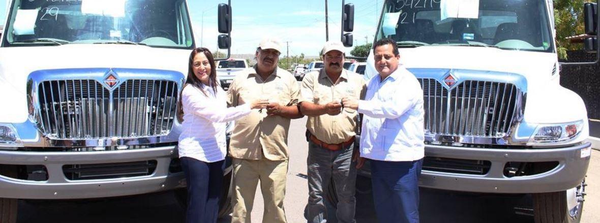 Siete camiones de recolección en funciones hacen mas eficiente el servicio en Loreto