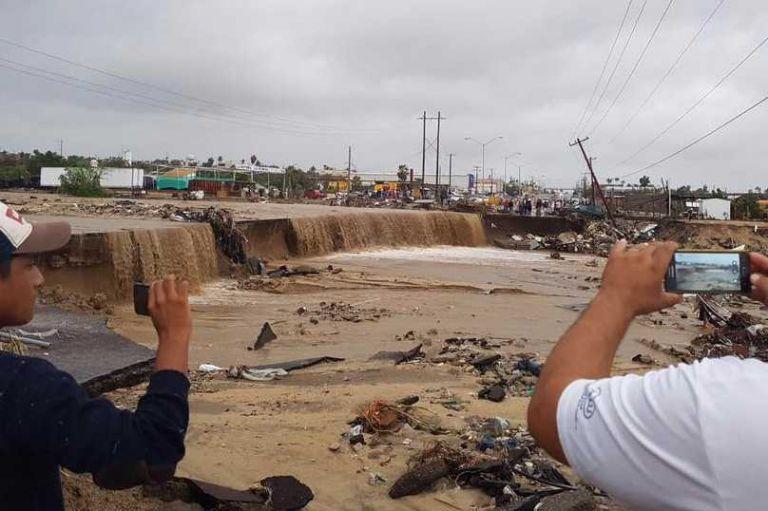 """Recuento de daños tras el paso de """"Lidia"""" por Los Cabos"""