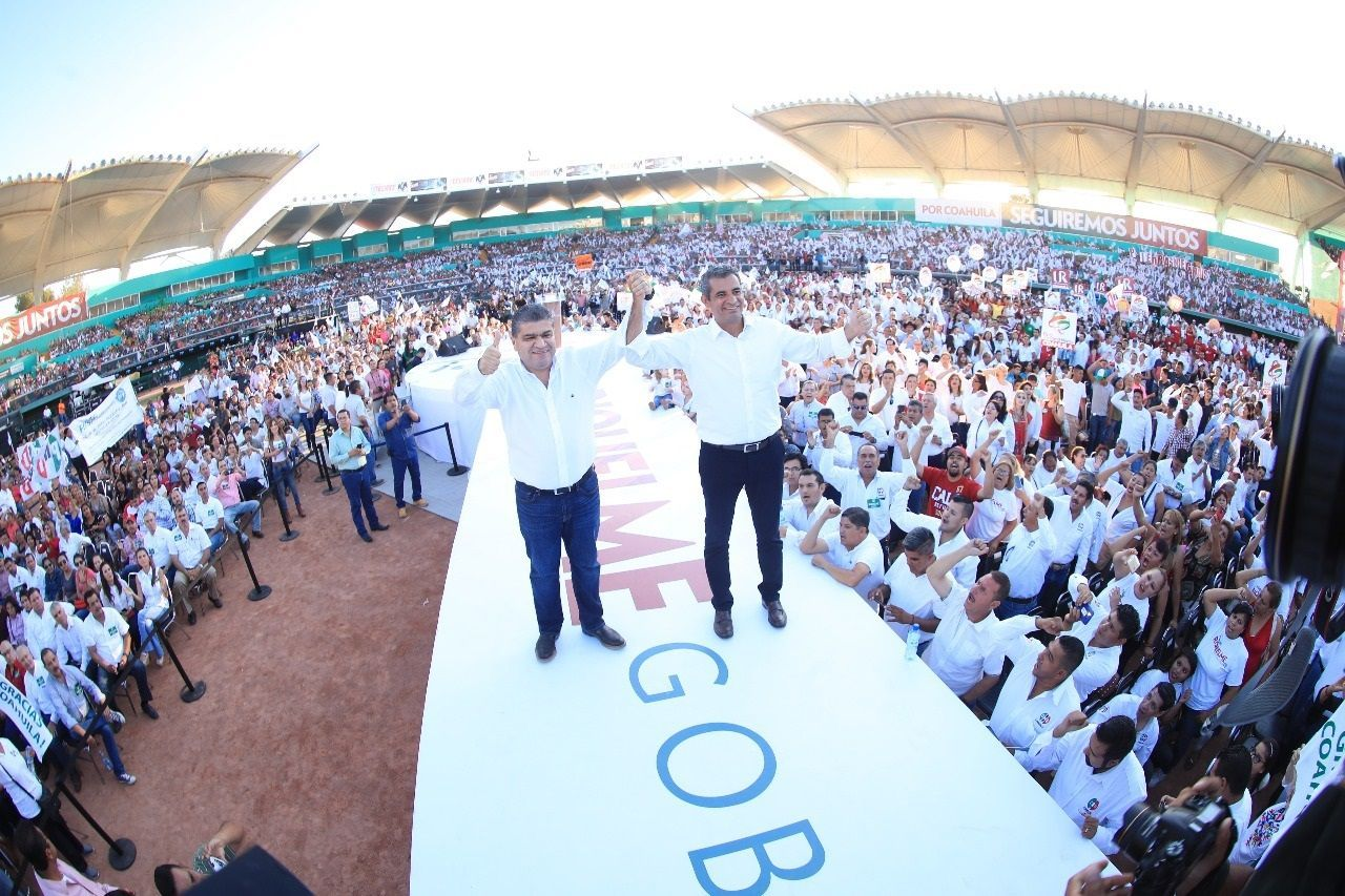 El PRI celebra ratificación del triunfo de su candidato en Coahuila