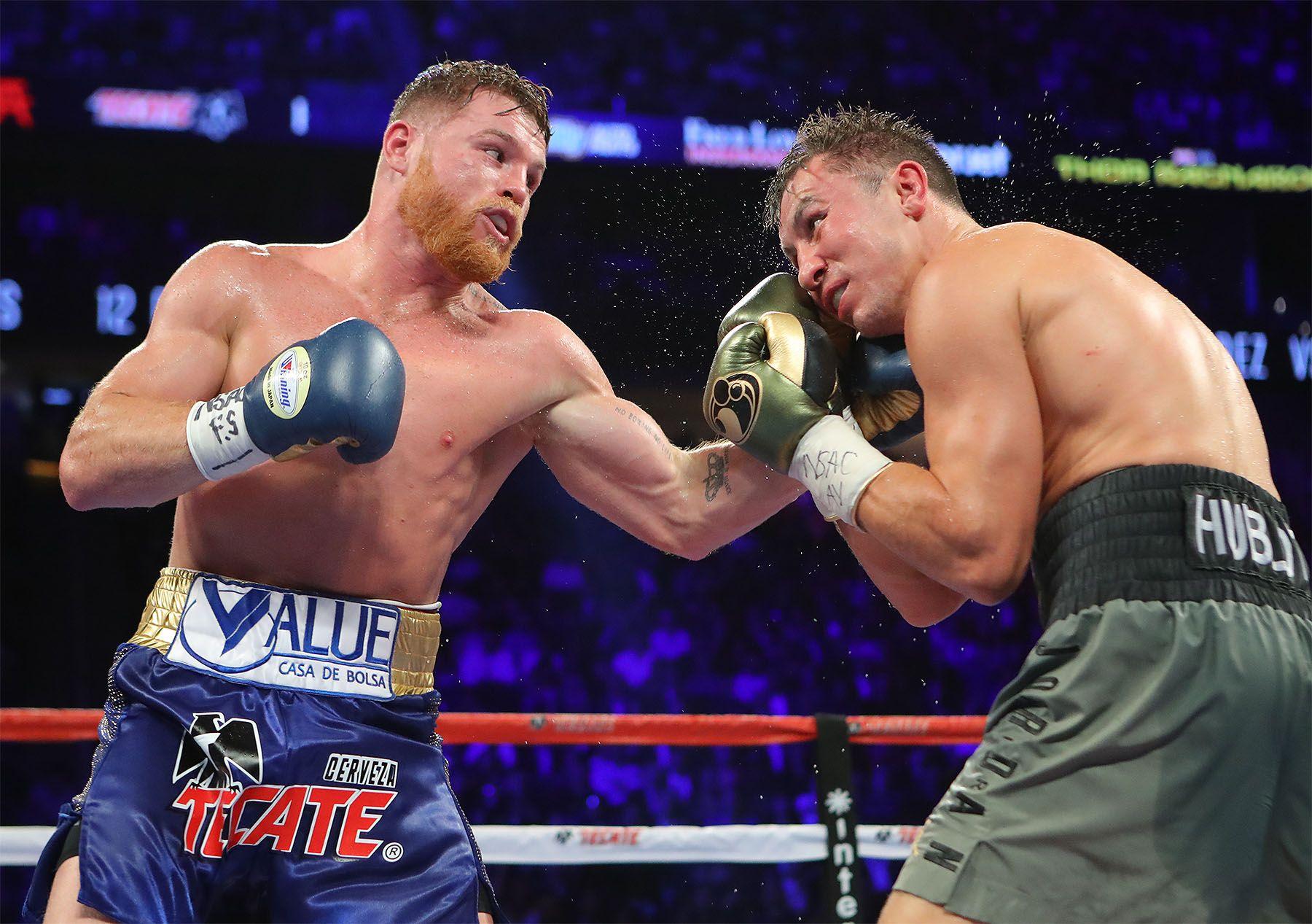 Golovkin y Álvarez dan el mismo peso de 72,640 kilos para pelea del sábado
