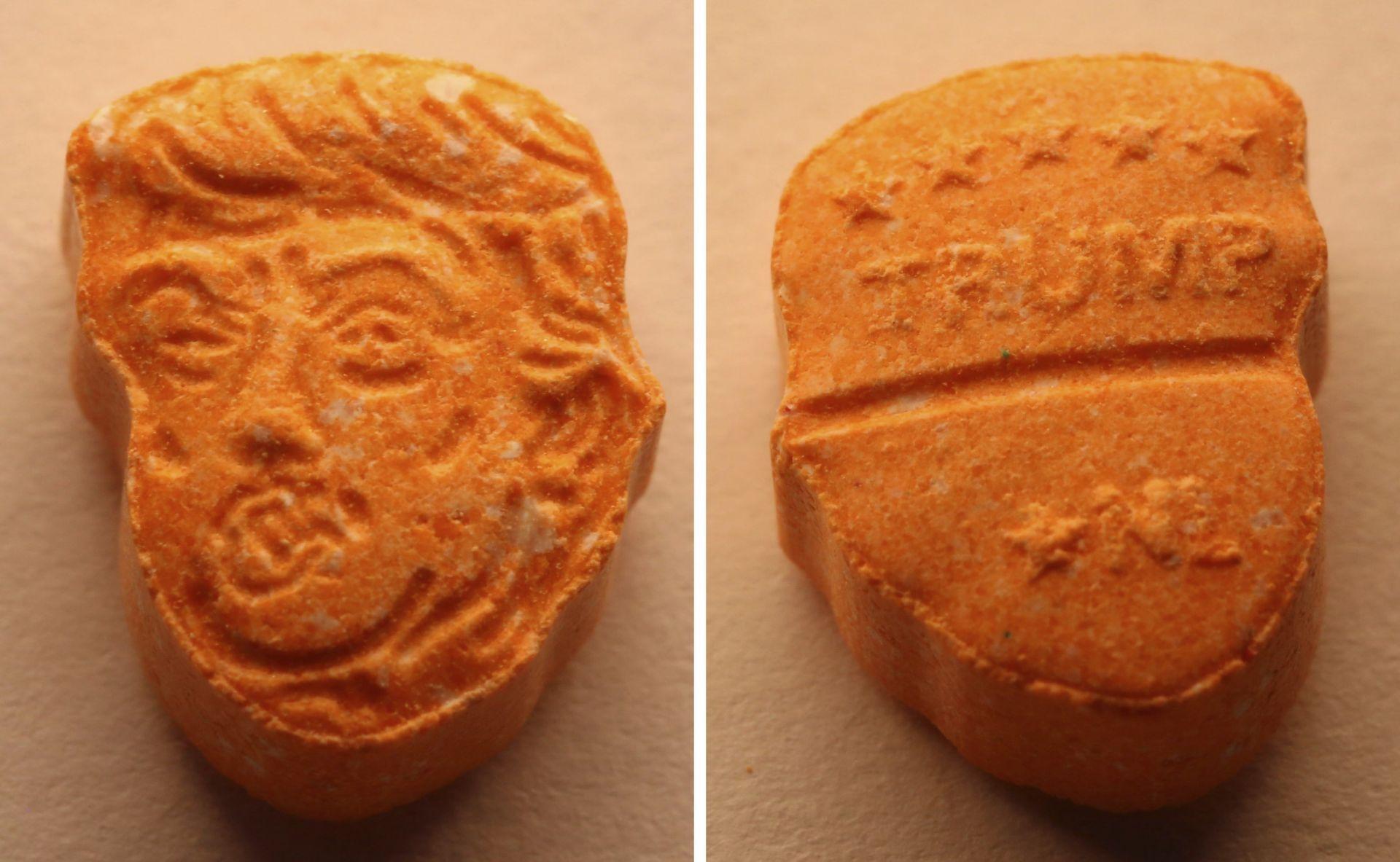 Aprehenden 5.000 pastillas de éxtasis con el rostro de Trump