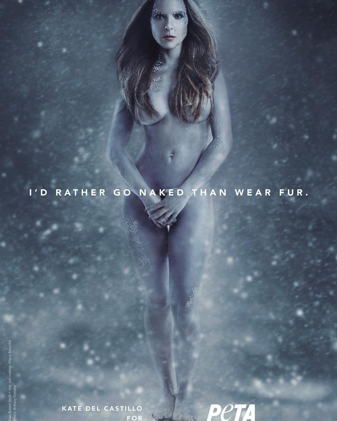 Kate del Castillo se desnuda en defensa de los animales