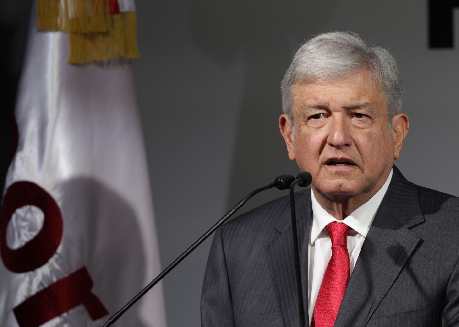 El candidato de Morena, el Partido del Trabajo (PT) y Encuentro Social (PES), Andrés Manuel López Obrador.
