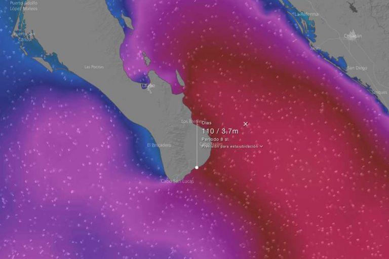 Se pronostican olas de hasta 6.0 metros en Los Cabos