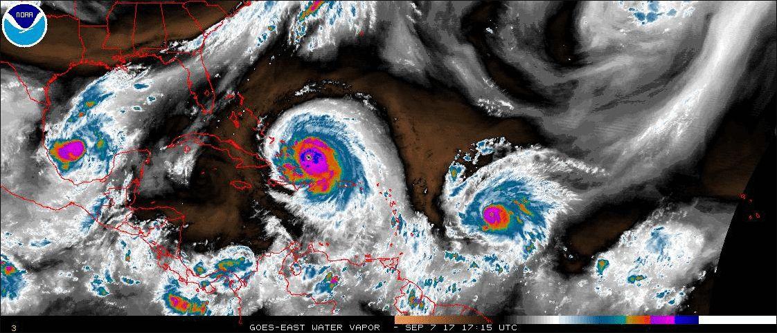 Huracanes Katia, Irma y Jose
