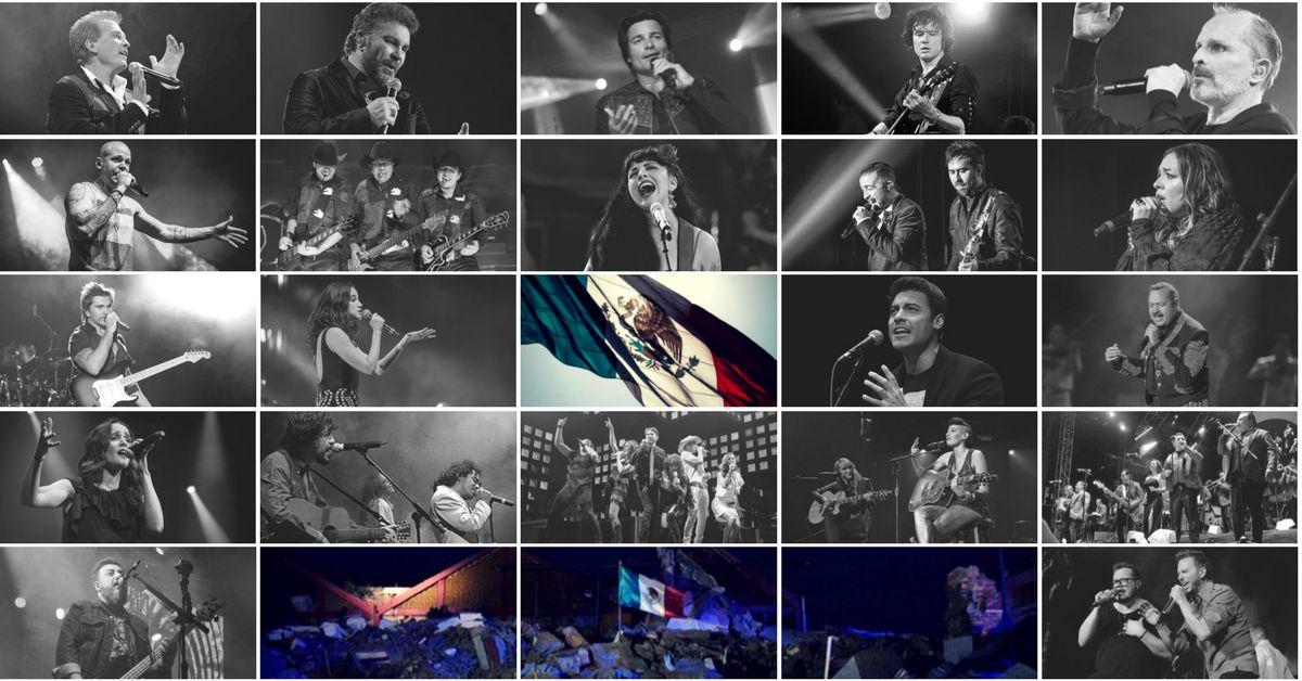 """Artistas darán """"concierto histórico"""" en México en apoyo a víctimas de sismos"""