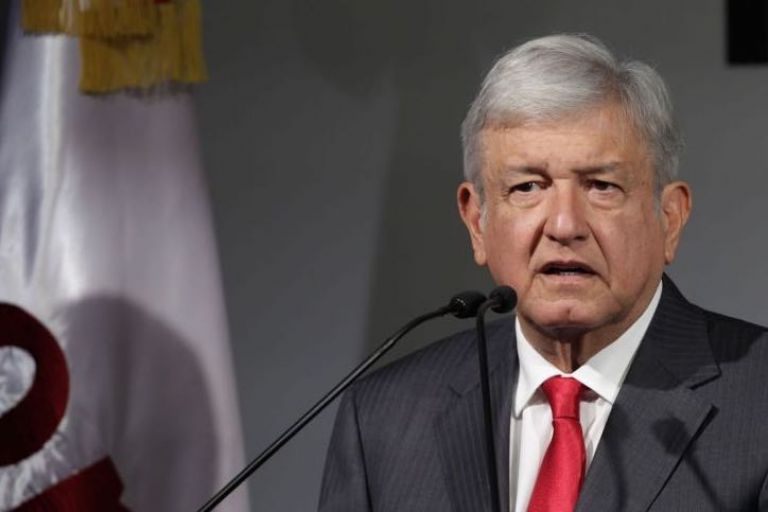 El candidato de Morena, el Partido del Trabajo (PT) y Encuentro Social (PES), Andrés Manuel López Obrador