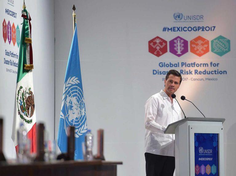 Peña Nieto y vicesecretaria de ONU evalúan prevención de desastres naturales