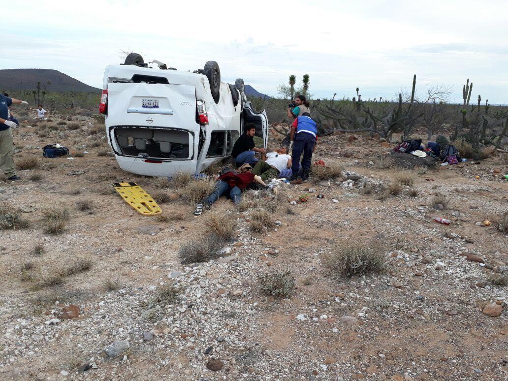 Accidente donde Marichuy resultó lesionada