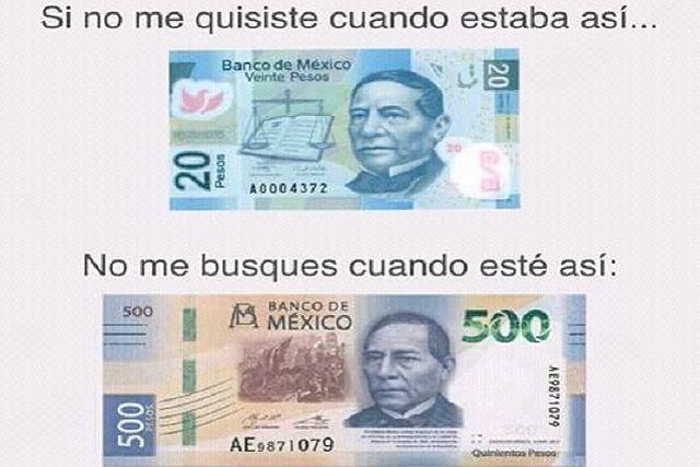 Image result for billete benito juarez 500 memes