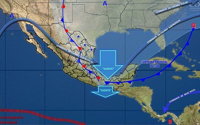 Prevén heladas y nevadas en varios estados del norte y centro de México