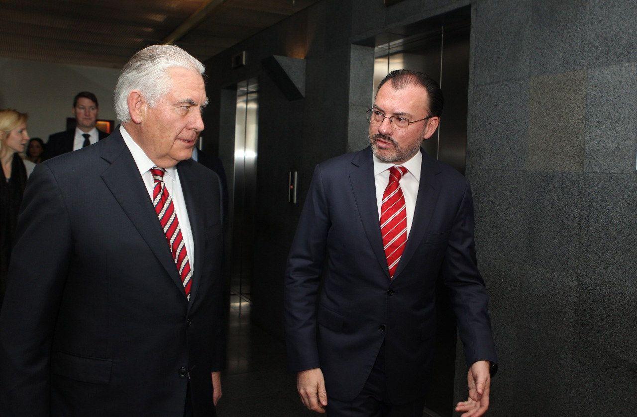 Videgaray y Tillerson repasan temas de seguridad y cooperación