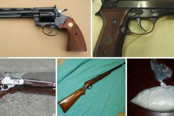 Cuatro personas detenidas en Santa Rosalía con armas y sustancias ilícitas