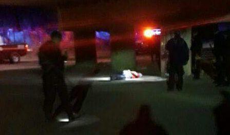 homicidio en La Paz, puente de el zacatal