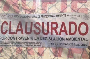 """Clausura Profepa predio """"Ocho Cascadas"""" en Cabo San Lucas"""