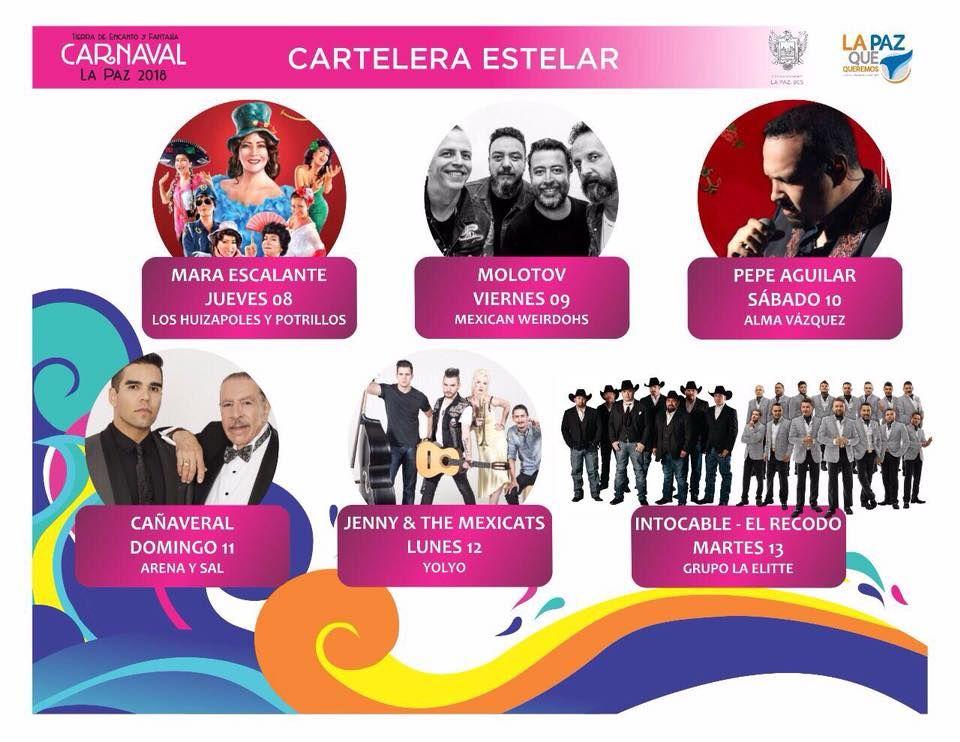 carnaval de La Paz, prorgrama