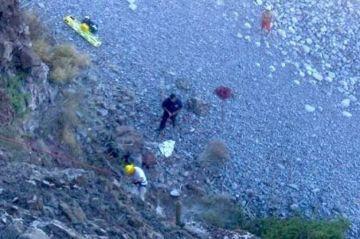 Turista estadounidense cae aun acantilado de 3 metros