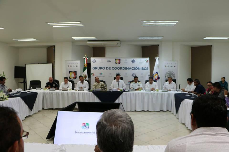 delincuencia en Baja California sur, grupo coordinación