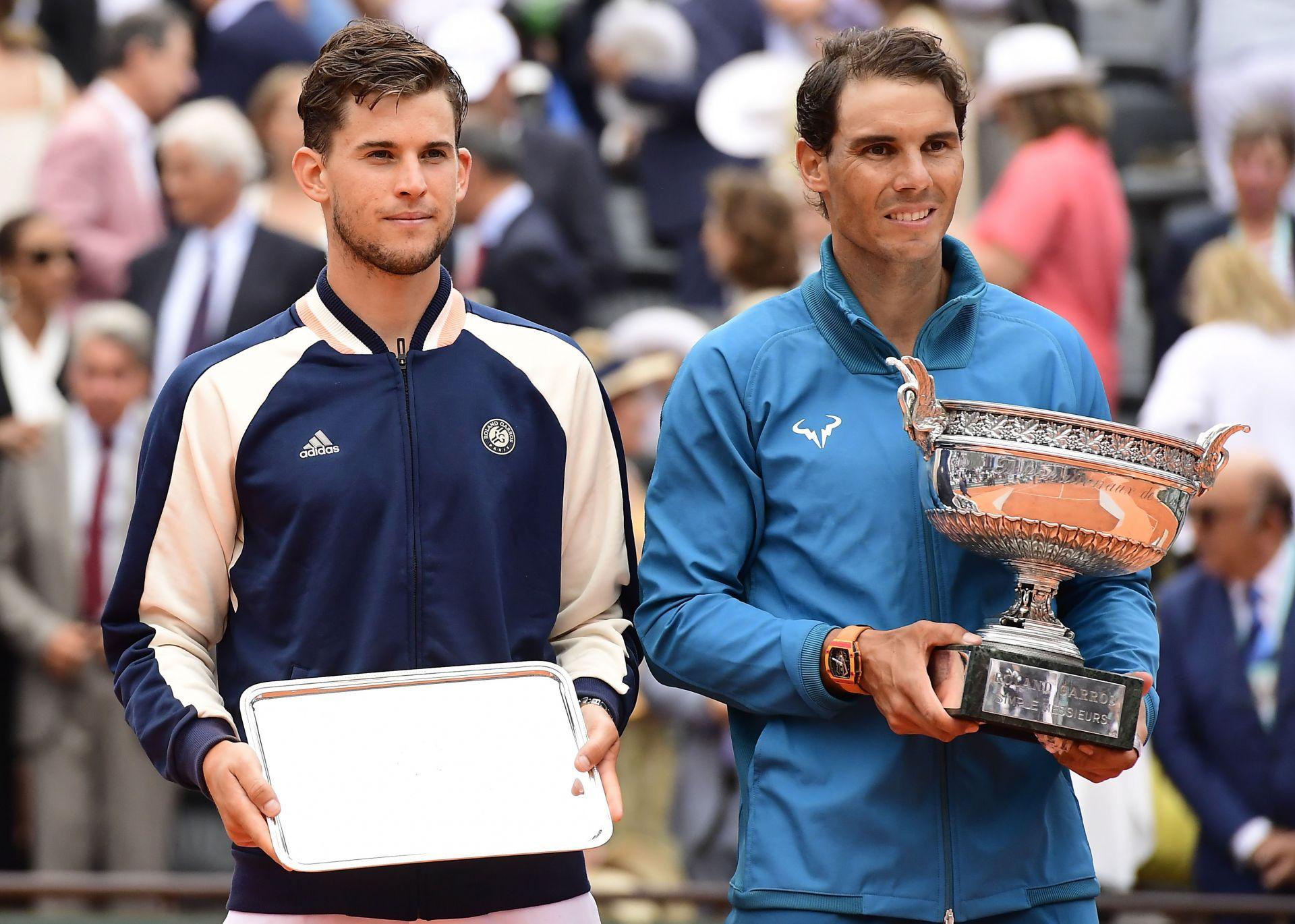 Winner Rafael Nadal of Spain