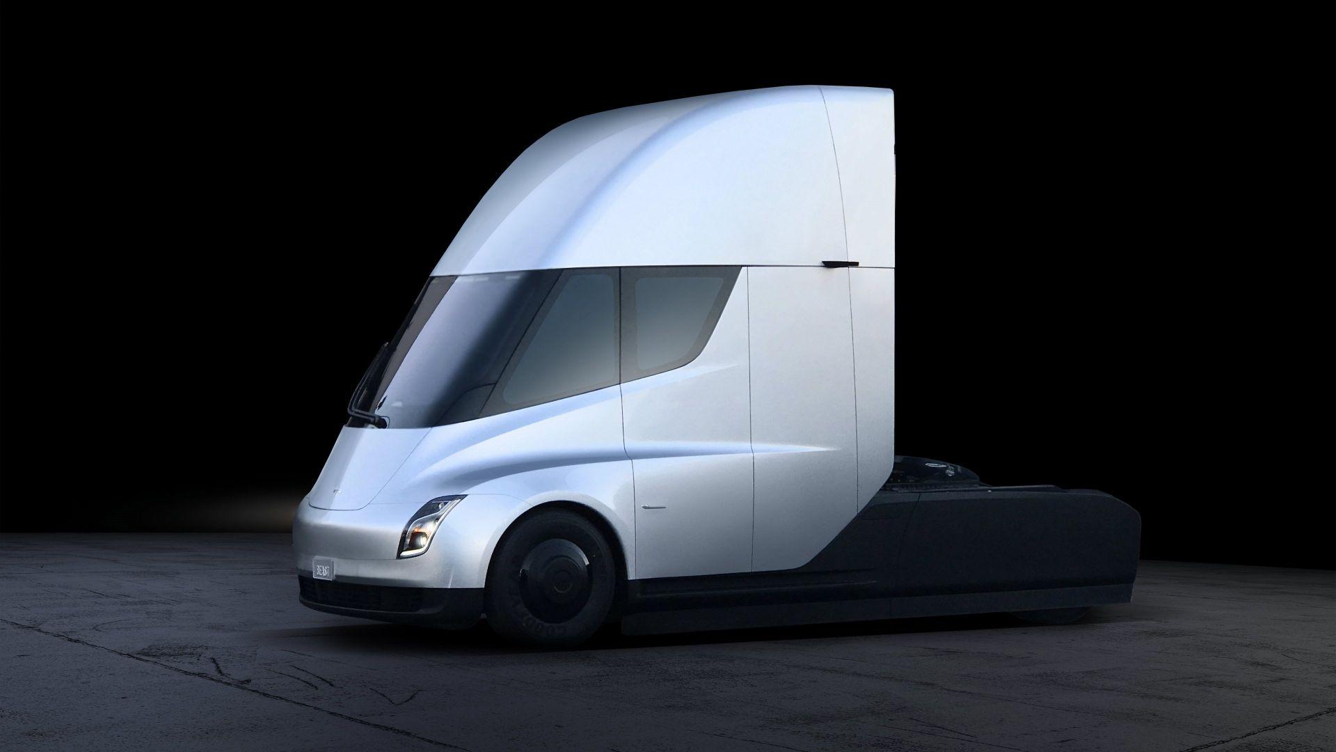 Imagen facilitada por Tesla que muestra un prototipo de su nuevo camión semirremolque eléctrico Semi hoy, 17 de noviembre de 2017.