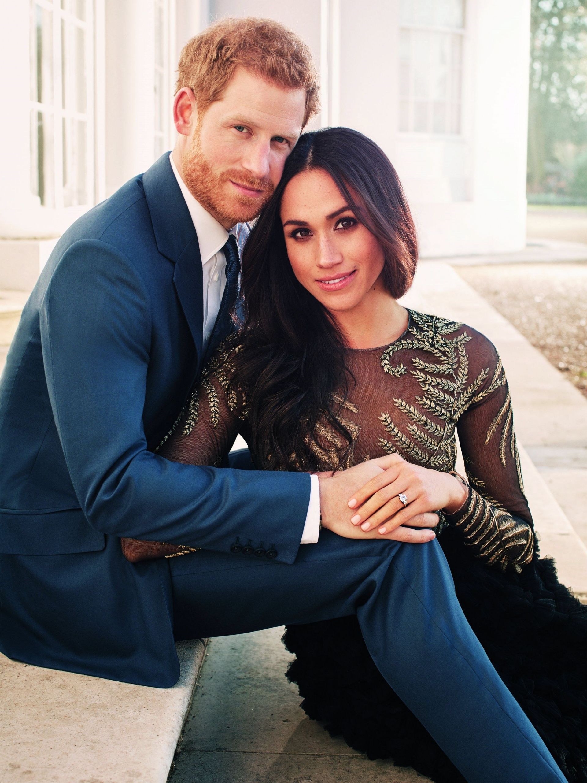 Fotografía oficial del compromiso del príncipe Enrique de Inglaterra y de la actriz estadounidense Meghan Markle realizada por el fotógrafo británico Alexi Lubomirski