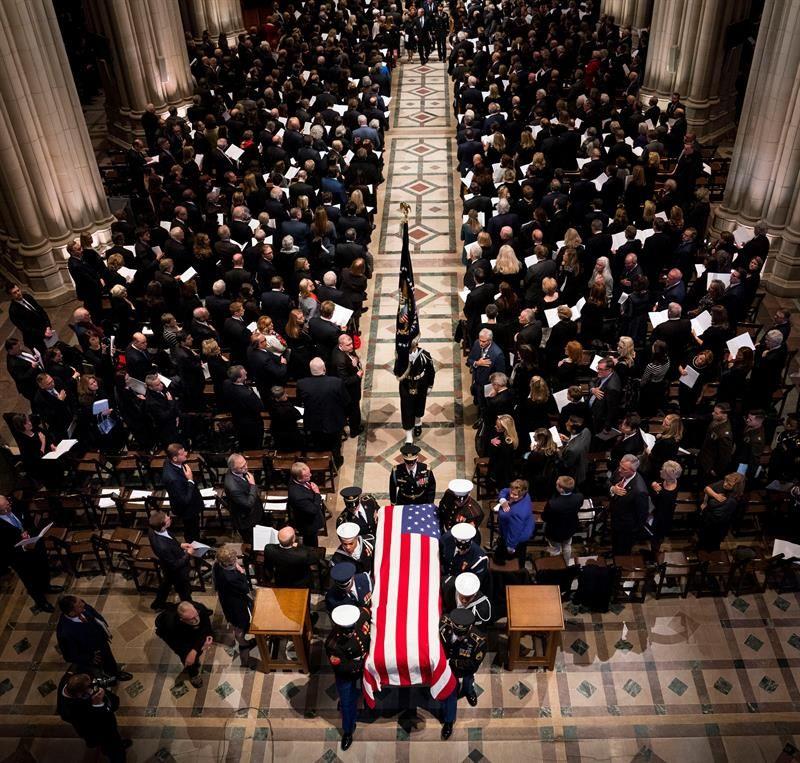 Restos de George H.W. Bush llegan a Washington