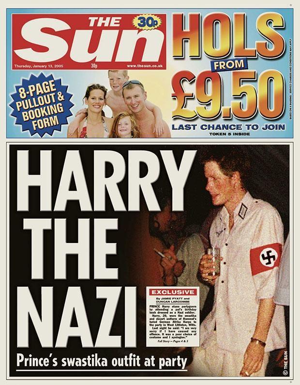 principe enrique de Inglaterra se disfraza de nazi