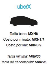 uber La Paz tarifas costo