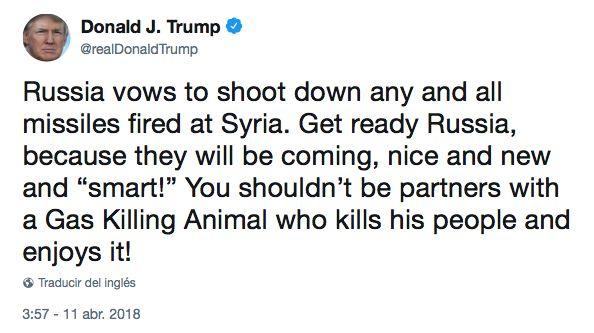 donald trump amenaza con un tweet a rusia