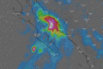 Tormentas intensas para Baja California Sur, Sonora y Sinaloa
