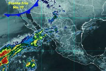 Ambiente muy frío con temperaturas inferiores a 0 grados Celsius, se prevén en Baja California, Chihuahua, Durango y Sonora