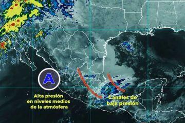 Clima: Un sistema de alta presión mantendrá la onda de calor en el occidente, sur y sureste de México