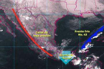 Clima: Lluvias intensas, se pronostican para hoy en Campeche y Chiapas