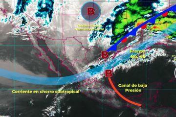 Clima: Ambiente de caluroso a muy caluroso y baja probabilidad de lluvia, se prevé para el occidente, centro y sur de México