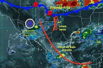 Se pronostican lluvias intensas en Coahuila, y muy fuertes en Chiapas, Michoacán y Nuevo León