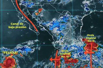 Se registra zona de baja presión en Pacífico con probabilidad para desarrollar un ciclón tropical