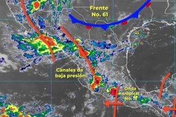 Se pronostican lluvias intensas, descargas eléctricas, granizadas y posibles torbellinos o tornados en Nuevo León y Tamaulipas
