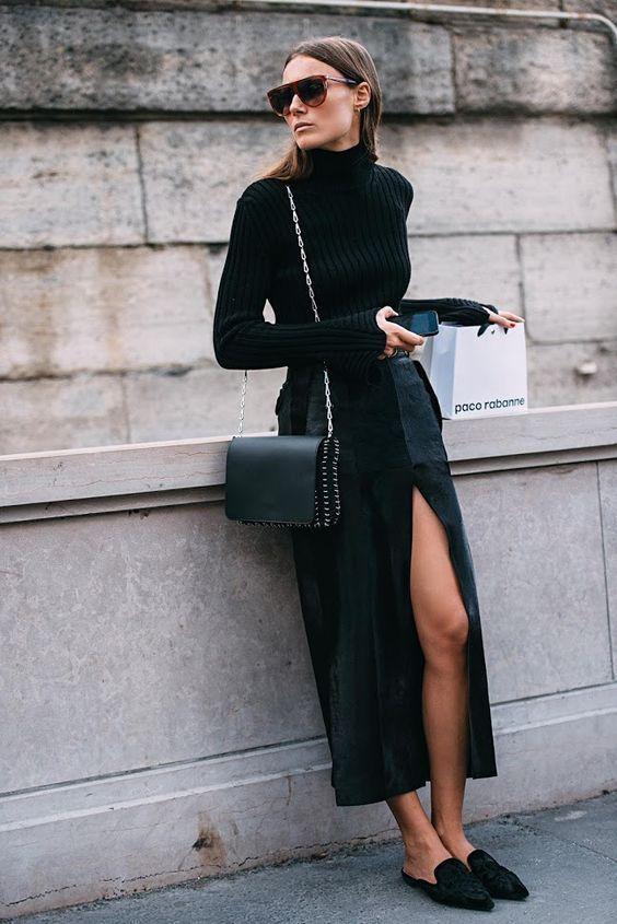 Zapatos con Vestido negro
