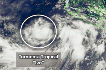 La depresión tropical 10-E se desarrolló a Tormenta Tropical 'Ivo' ubicándose a 790 km de Cabo San Lucas