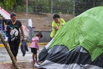 Fuertes lluvias ponen en peligro a migrantes en Tamaulipas