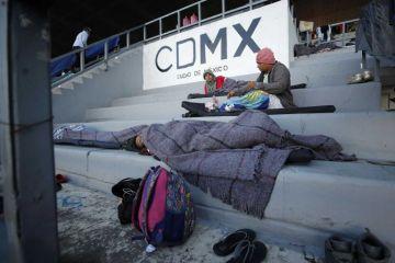 Avanzada de migrantes centroamericanos llega a Ciudad de México