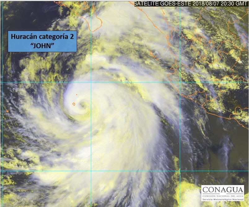huracán john satellite
