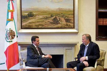 Peña Nieto recibe a Meade tras su derrota electoral