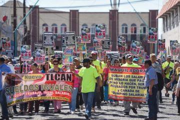 Mexicanos piden subida salarial a propósito de la negociación de TLCAN